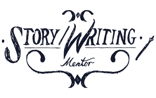 """Illustrated words reading """"Story/Writing mentor"""""""