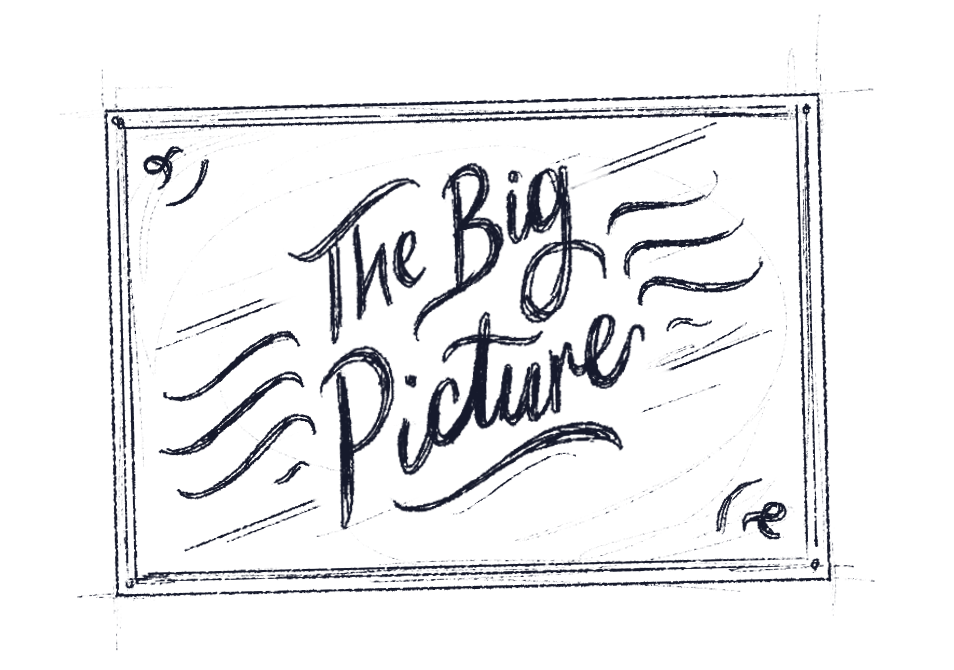 """Illustrative words reading """"The Big Picture"""""""