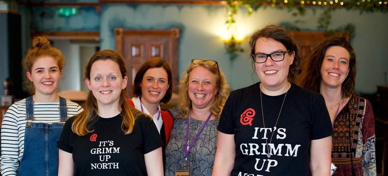 Staff after delivering radio writing workshop