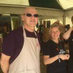 Volunteer Phil with CEO Deborah at a festival