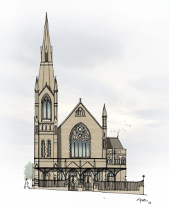 Illustration of Talbot Lane Methodist Church