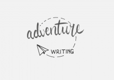 "Decorative image of the words ""Adventure writing"""