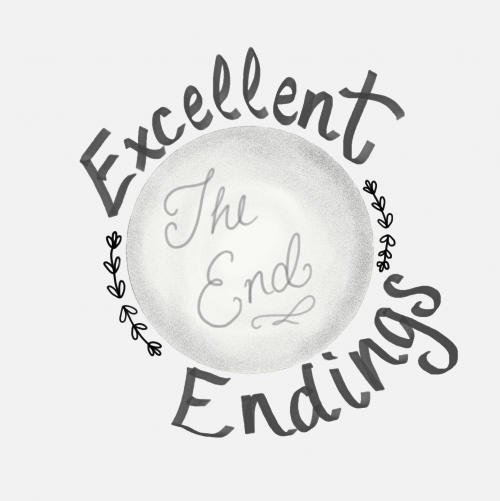 "Decorative image of the words ""Excellent Endings"""