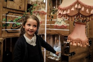 Child immersed in theatre space in the Inside Story project