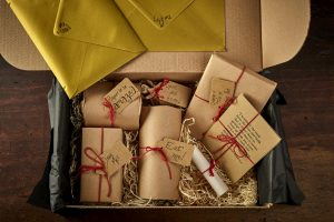 Gift box with individually wrapped items