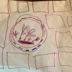 Child's drawing of a pixie palace