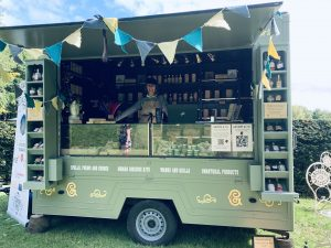 Grimm & Co's pop-up apothecary trailer