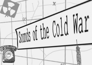 Sounds of the Cold War illustration, with an impression of a map and a telephone behind.